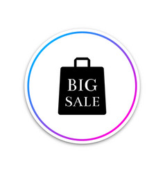big sale bag icon isolated on white background vector image