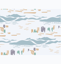 Blue city landscape abstract outdoor seamless vector