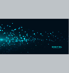 Blue particles in flowing motion background vector