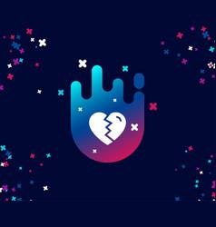 Break up love simple icon divorce sign vector