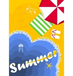 bright summer beach lounge chair vector image