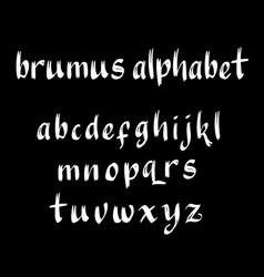 Brumus alphabet typography vector