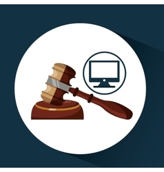 Business finacial judge gavel icon design vector
