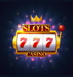 Casino slot or fruit machine puggy or pokies vector