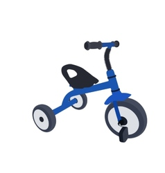 Children Bicycle with Three Wheels Isolated vector
