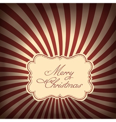 Christmas sunrays background vector