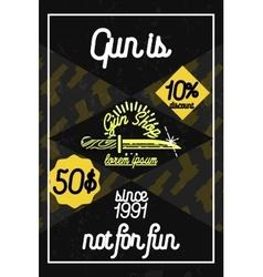 Color vintage guns shop poster vector image