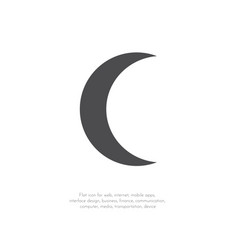 crescent moon11112 vector image