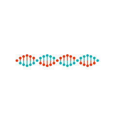 dna structure colorful poster vector image