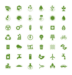 eco icons big set vector image