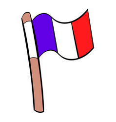 flag france icon cartoon vector image