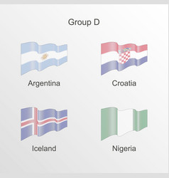 Flag group d world football championship vector