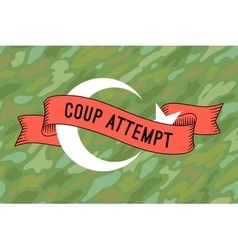 Flag of Turkey with military ribbon and message vector