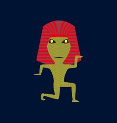 flat on background of mummy halloween vector image