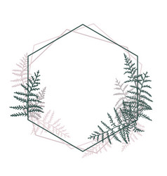 frame with bracken vector image