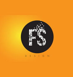fs f s logo made of small letters with black vector image