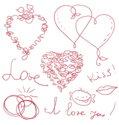 Funny valentine design vector