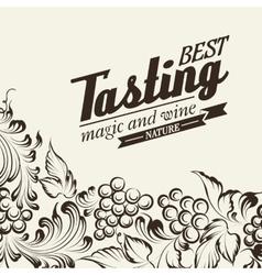 Grapes design for wine menu vector image