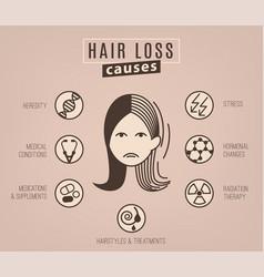 Hair loss causes vector