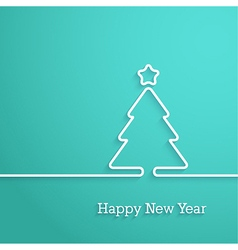 Happy New Year paper postcard vector image