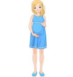 Happy pregnant woman vector image