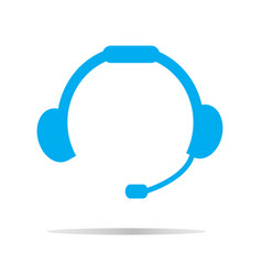 headset icon on white background headset symbol vector image
