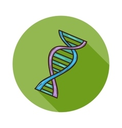 Human DNA icon vector