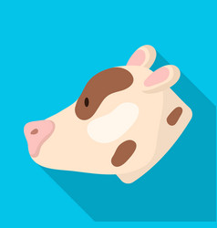 isolated object of pig and face symbol set of pig vector image