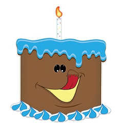 Just a taste birthday cake chocolate vector image