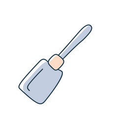 kitchen spatula cartoon doodle stock icon in flat vector image