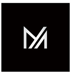 Letter m and letter a logo vector