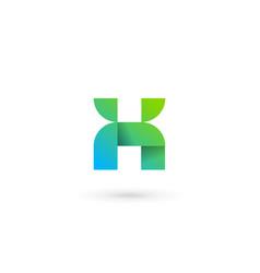 letter x number 10 ribbon logo icon design vector image