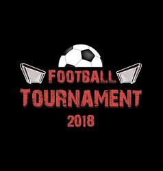 Logo football tournament 2018 vector