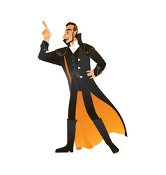 man in vampire or count vector image