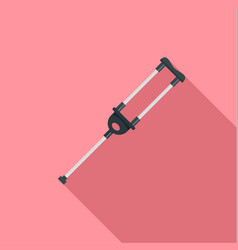 Medical crutch icon flat style vector