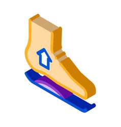 Medical orthopedic foot equipment isometric icon vector