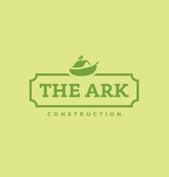 modern professional logo the ark construction vector image