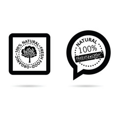 Organic and natural icon in black color vector