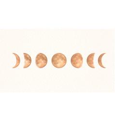 phases gold moon boho moon vector image