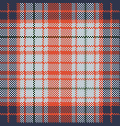 Pixel texture seamless check plaid vector