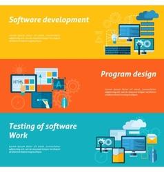 Program Development Banner Set vector