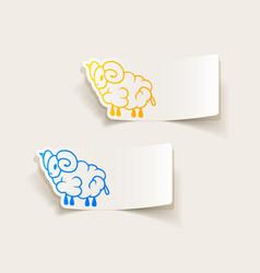 Realistic design element sheep vector