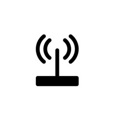 router wifi icon vector image