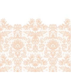 Seamless orange lace vector