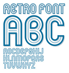 set of bold upper case alphabet english alphabet vector image