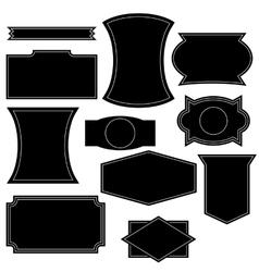 Set vintage logo shapes vector
