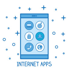 Smartphone internet apps connected technology vector