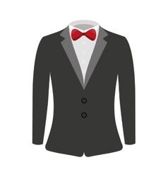 Suit businessman elegant icon vector