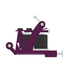 tattoo machine isolated device with inks body art vector image