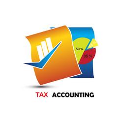 tax accounting logo vector image